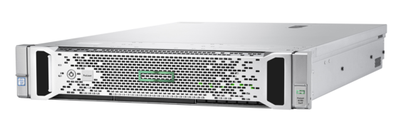HPE ProLiant DL380 Gen9 rack server with one Intel® Xeon® E5-2620 v4 processor, 16 GB memory, 8 SFF drive bays, and one 500W power supply