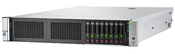 HPE ProLiant DL380 Gen9 rack server with one Intel® Xeon® E5-2609 v4 processor, 8 GB memory, and one 500W power supply