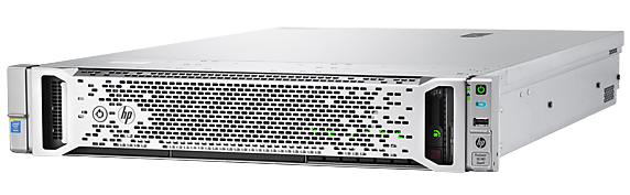 HPE ProLiant DL180 Gen9 rack server with one Intel® Xeon® E5-2609 v4 processor, 32 GB memory, and two 900W power supplies